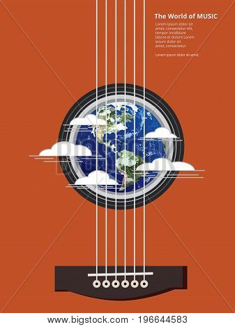 The World of Music Poster Vector Illustration