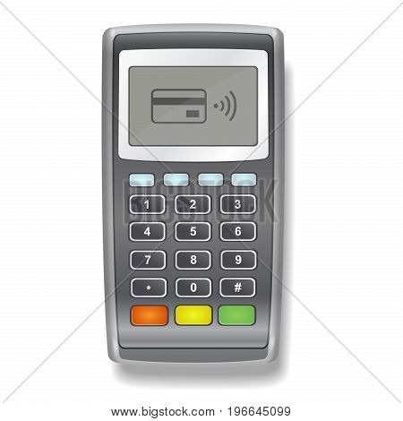 POS Terminal realistic illustration on a white background