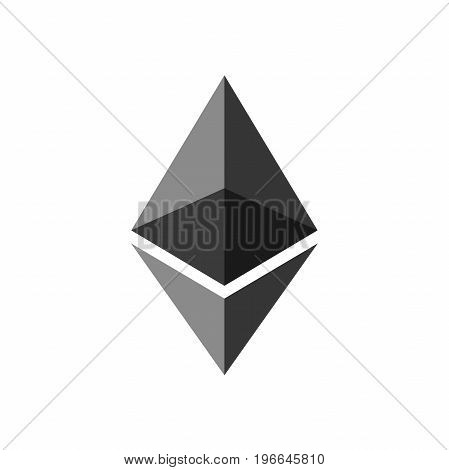 Ethereum. Cryptocurrency Ethereum logo. Cryptography modern money. Vector illustration