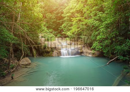 Erawan Waterfall in Kanchanaburi Province , Thailand