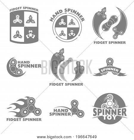 Logo hand spinner toys, Vector illustration on white background