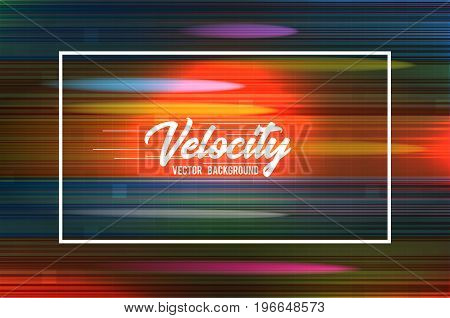 Velocity vector background 09. Speed movement pattern design. High speed and Hi-tech abstract technology concept