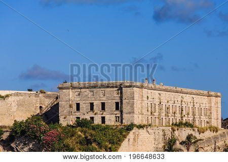 Old prison on Bermuda by Naval Dockyard