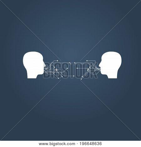 Digital communication and social media vector illustration concept. Eps10 vector illustration.