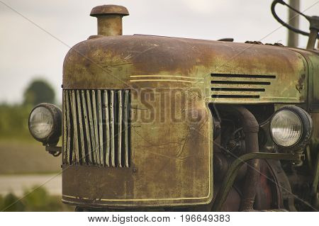 Old Vintage And Rusty Tractor
