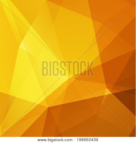 Abstract yellow triangular geometric background  - raster version