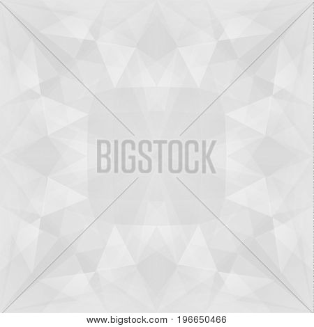 Abstract white texture with triangular geometric pattern - raster version
