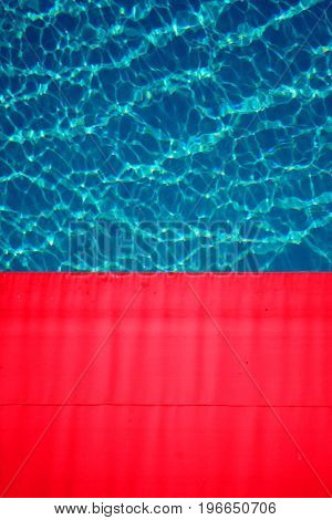 photograph of swimming pool on sunny day