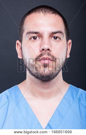 Portrait Of Male Medical Nurse Posing