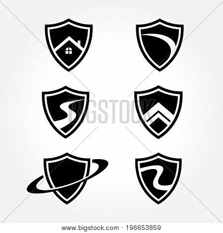 Creative Shield Symbol Design Collections set for your security business