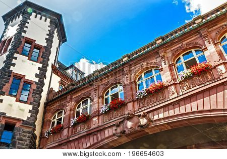 Old Town Hall - Monumental building complex from 1900-1908 in forms of Neo-Baroque, in front of the St.Pauls Church in Frankfurt am Main, Germany