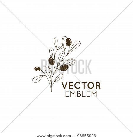 Vector Olive Oil Icon And Logo Design Element In Trendy Linear Style - Mono Line Illustration