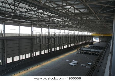 Industrial Plant With Rails