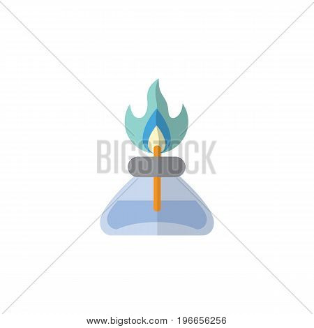 Flame Vector Element Can Be Used For Flame, Gas, Burner Design Concept.  Isolated Gas Burner Flat Icon.