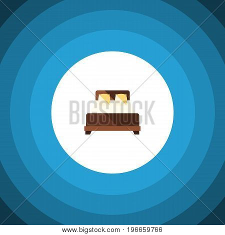 Mattress Vector Element Can Be Used For Mattress, Double, Bed Design Concept.  Isolated Double Bed Flat Icon.