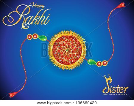 abstract creative golden rakhi background vector illustration