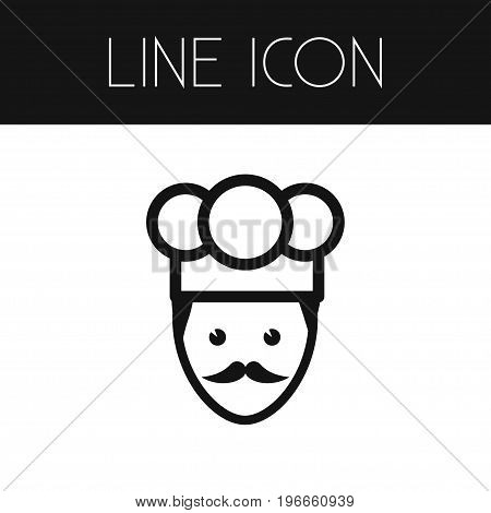 Cook Vector Element Can Be Used For Chef, Cook, Gastronomy Design Concept.  Isolated Chef Outline.