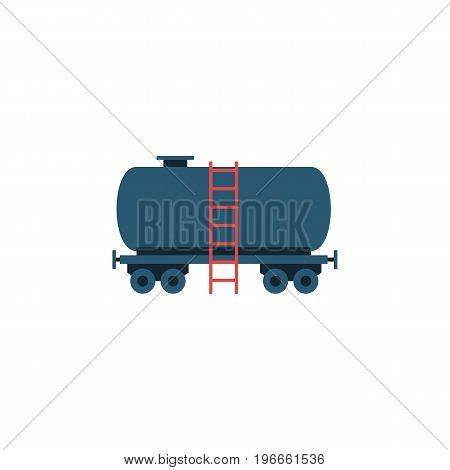 Container Vector Element Can Be Used For Tanker, Container, Oil Design Concept.  Isolated Tanker Flat Icon.