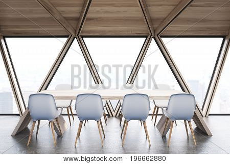 Attic Meeting Room, Wooden Ceiling, Side View