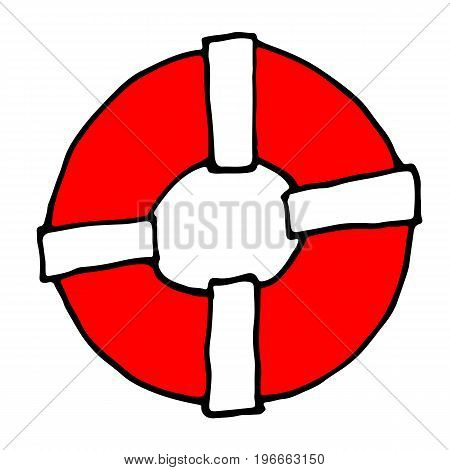 Lifeline Icon In Cartoon Style Isolated On White Background