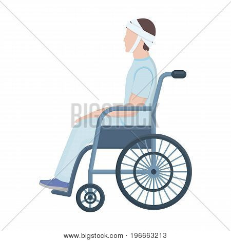 Man Trauma Wheelchair Vector Photo Free Trial Bigstock