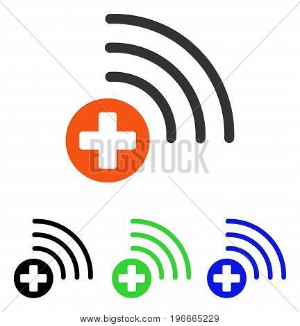 Medical Source vector icon. Illustration style is a flat iconic colored symbol with different color versions.