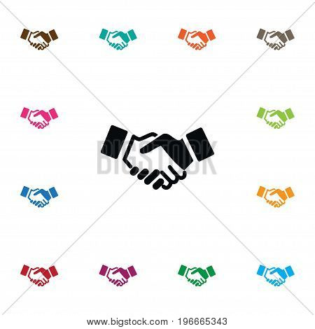 Agreement Vector Element Can Be Used For Agreement, Partnership, Handshake Design Concept.  Isolated Partnership Icon.