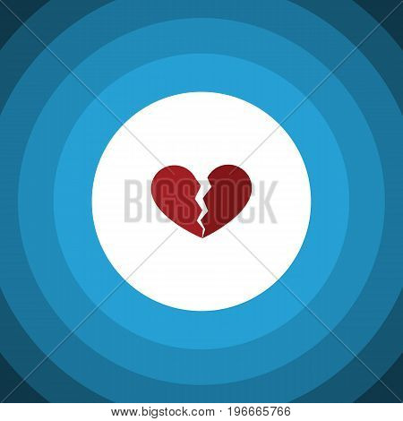 Divorce Vector Element Can Be Used For Broken, Heart, Divorce Design Concept.  Isolated Broken Heart Flat Icon.