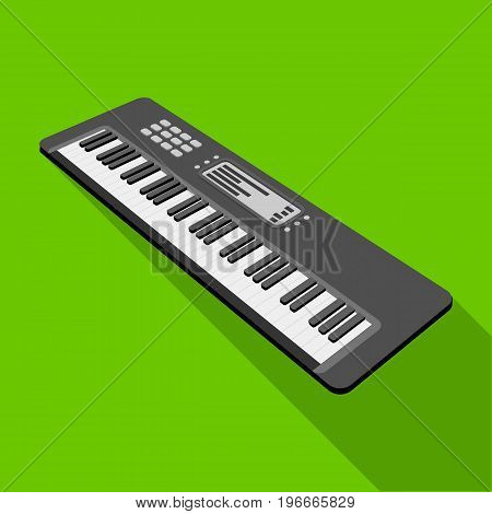 Keyboard electronic musical instrument. Synthesizer of melody single icon in flat style vector symbol stock illustration .