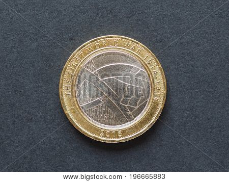 2 Pounds Coin, United Kingdom In London