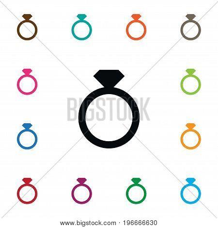Diamond Vector Element Can Be Used For Brilliant, Diamond, Ring Design Concept.  Isolated Brilliant Icon.