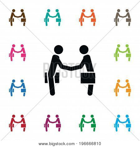 Handshake Vector Element Can Be Used For Handshake, Partnership, Meeting Design Concept.  Isolated Partnership Icon.