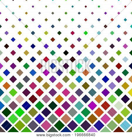Colorful square pattern background - geometric vector illustration from diagonal squares