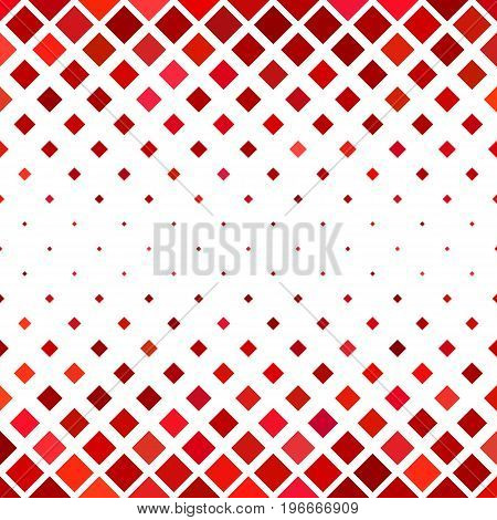 Abstract diagonal square pattern background - geometrical vector design from squares in red tones