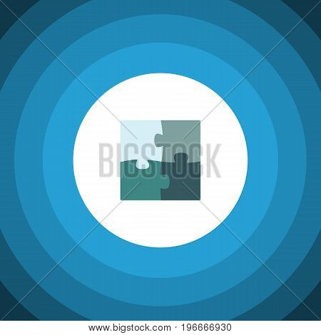 Jigsaw Vector Element Can Be Used For Jigsaw, Puzzle, Enigma Design Concept.  Isolated Puzzle Flat Icon.