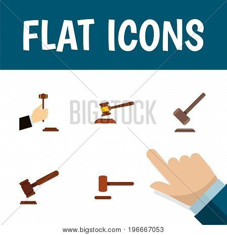 Flat Icon Lawyer Set Of Justice, Defense, Law And Other Vector Objects
