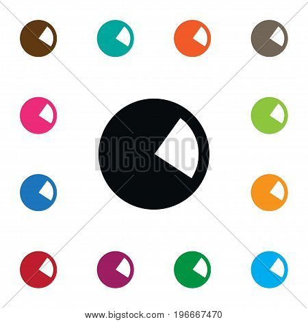 Pie Bar Vector Element Can Be Used For Pie, Circular, Chart Design Concept.  Isolated Circle Diagram Icon.