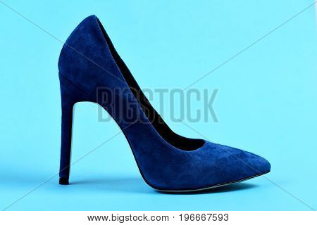Female Formal Suede Shoe, Side View.