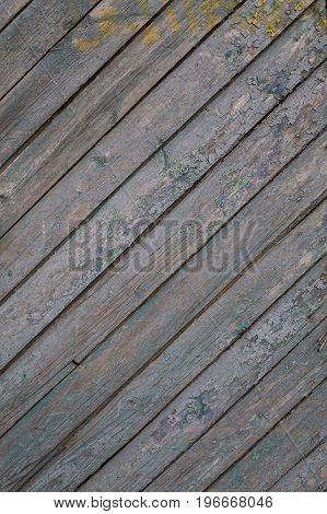 Old wood planks. Grunge texture. Diagonal lines.