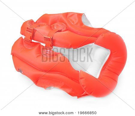 Life-jacket. Necessary object for safe sailing.