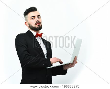 Businessman Or Insurance Agent With Beard And Moustache