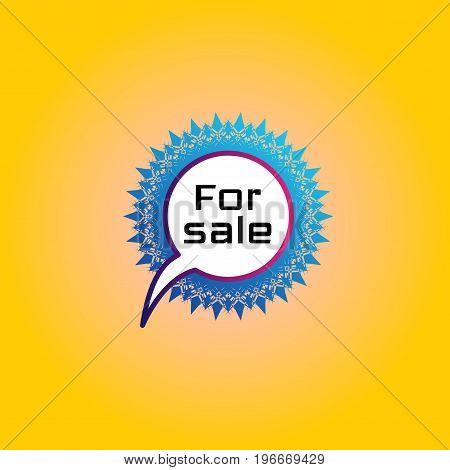 Pictogram, Banner, Badge Inscription For Sale. Sign, Icon
