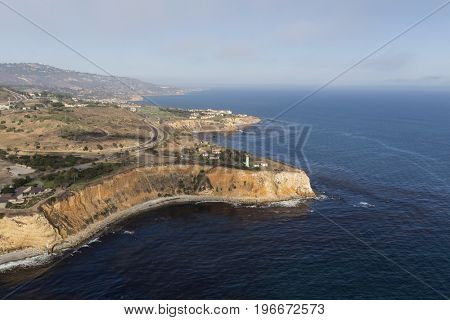 Vincent Point aerial view in the Rancho Palos Verdes area of Los Angeles County, California.