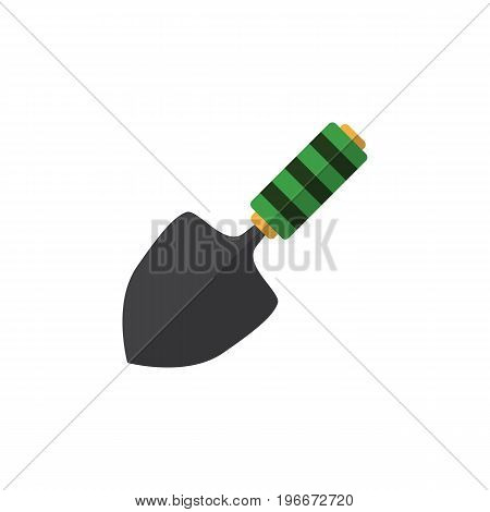 Trowel Vector Element Can Be Used For Spatula, Trowel, Shovel Design Concept.  Isolated Dig Flat Icon.