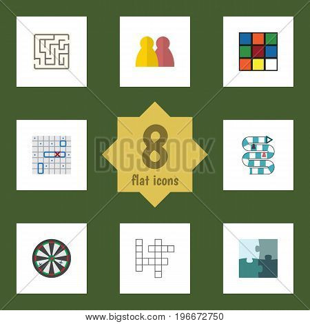 Flat Icon Play Set Of Arrow, Cube, Multiplayer And Other Vector Objects