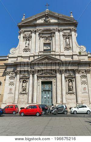 ROME, ITALY - JUNE 22, 2017: Amazing view of Chiesa di Santa Susanna alle Terme di Diocleziano in Rome, Italy