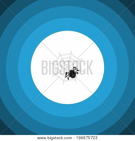 Spinner Vector Element Can Be Used For Spider, Arachnid, Cobweb Design Concept.  Isolated Spider Flat Icon.
