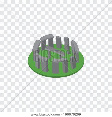 England Vector Element Can Be Used For Stonehenge, England, Historic Design Concept.  Isolated Stonehenge Isometric.