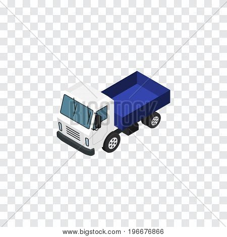 Lorry  Vector Element Can Be Used For Truck, Lorry, Transport Design Concept.  Isolated Truck Isometric.