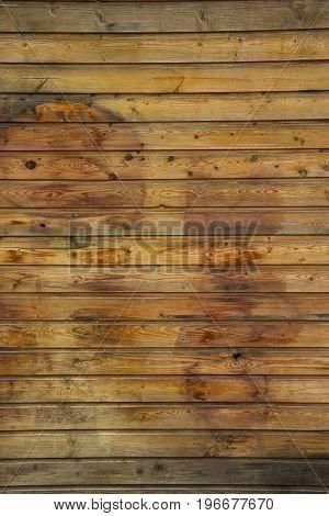Horizontal background of wooden boards varnished .